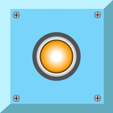 botton: blue flat botton graphic symbol