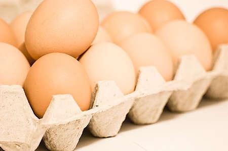 新鮮な卵。高い栄養価。 写真素材