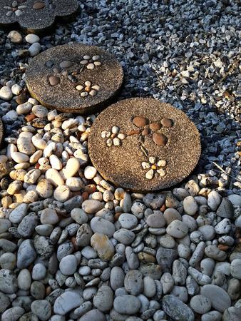 to ponder: Dusk in pebble garden