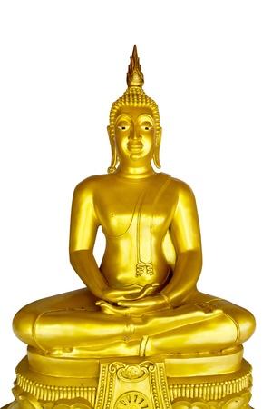lambent: White Buddha, isolated against white background