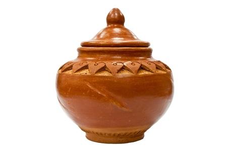 Thai Earthenware on white background photo