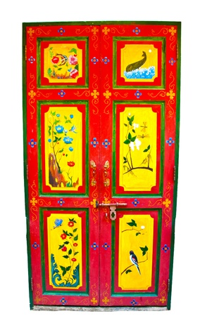 yaffo: Antique door Stock Photo