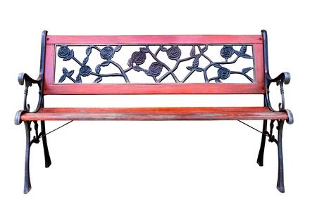Bench on white background photo