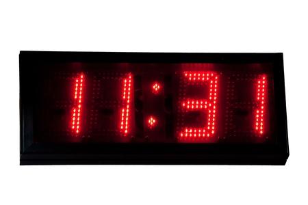 display type: Digital clock Stock Photo