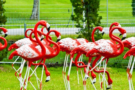 flamingos statue Stock Photo - 15444730