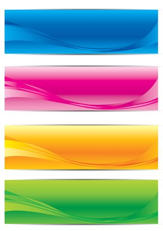 Vector collection of banners Vector