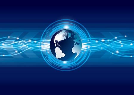 Astratto globale della terra tecnologia sfondo, vettore