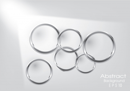 aluminium wallpaper: Abstract Vector Background - Silver Circles behind white wall Design Illustration