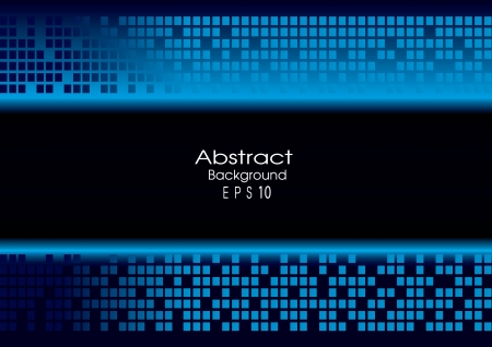 Abstract blue technology background and free space for your message, vector eps10 Stock Vector - 16318433