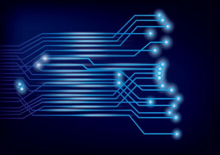 industry electronic: Vector Circuit Board background Illustration
