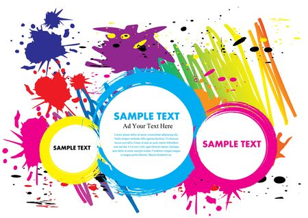 ink paint colorful design vector illustration with free Space text Vector