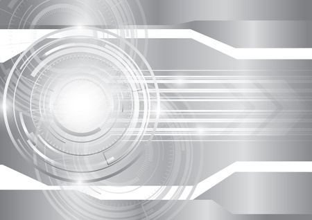futuristic nature: Abstract technology silver background, vector Illustration