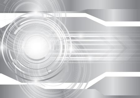 Astratto sfondo argento tecnologia, vettore