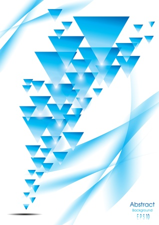 Blue triangle abstract pattern Vector eps10 Vector