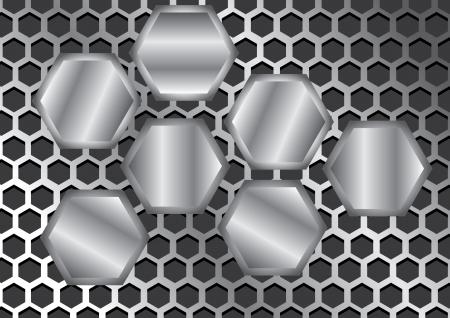 abstract metal texture Vector background Stock Vector - 16318784