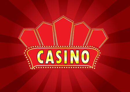 Casino billboard sign vector Vector