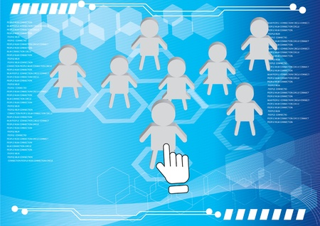 community support: business connection social network Illustration
