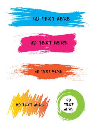 Colorful design for speech Illustration