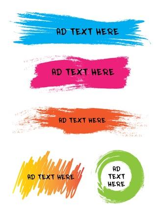 Colorful design for speech Çizim
