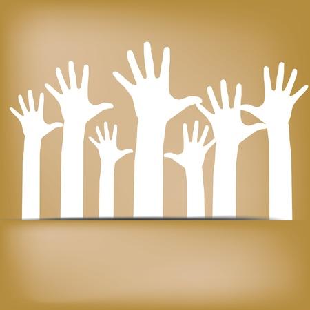 Hands volunteer Vector eps10 Stock Vector - 16319395