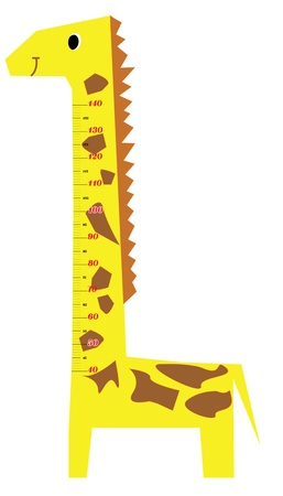 height chart: Height scale kids giraffe vector