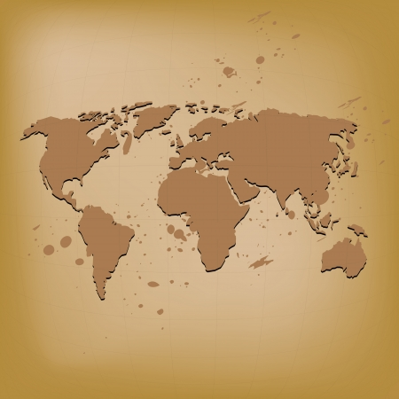 old world map vector illustration Stock Vector - 16319513