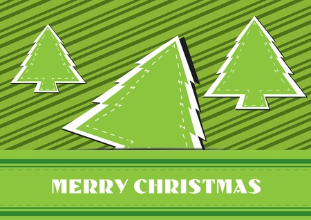 Christmas tree background vector illustration Stock Vector - 16319302