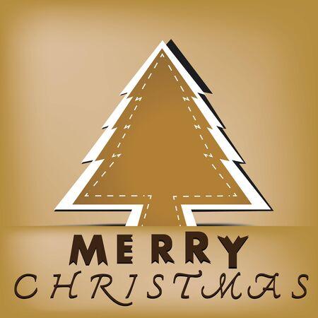 Christmas tree applique vector background Stock Vector - 16319394