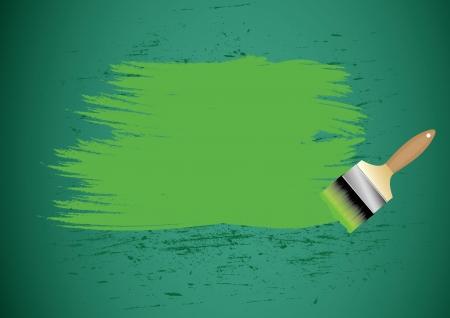 redecorate: paint brush on blackboard vector illustration