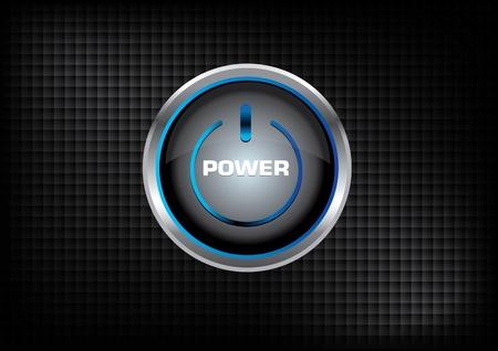 Power button on Dark Design background vector