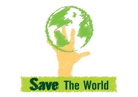 paz mundial: Dibujo Ilustración vectorial guardar el concepto de mundo