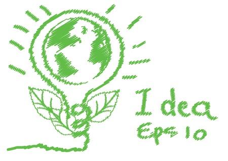 green eco vector eps 10 Stok Fotoğraf - 16318810