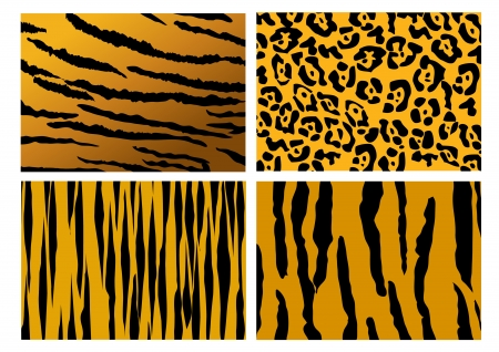 tiger skin pattern background vector Vector