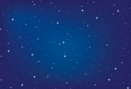 night: Abstract background Night sky with stars Illustration