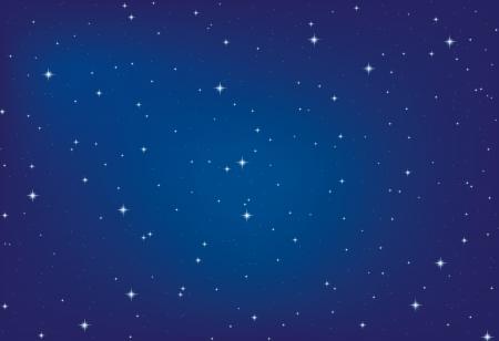Fondo abstracto Cielo nocturno con las estrellas Ilustración de vector