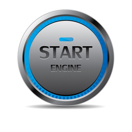at the start: Start engine button vector