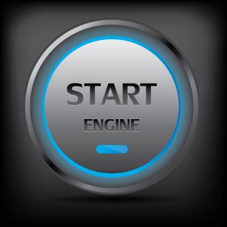 Start engine button vector