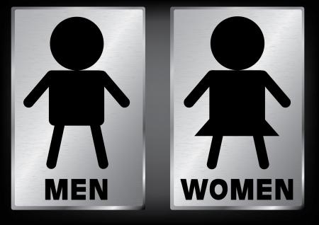 gender symbol: Vector Men and Women restroom sign Illustration