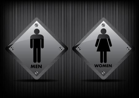 simbolo uomo donna: Uomini vettoriali e bagno Donne Iscriviti Vettoriali