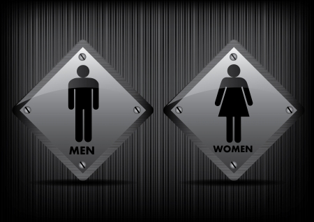 Vector Men and Women restroom sign Vector