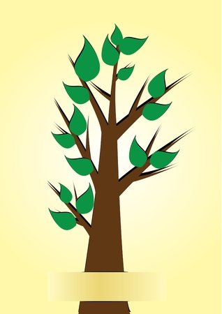 tree paper vector illustration Stock Vector - 16318778