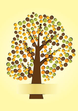 tree paper vector illustration Stock Vector - 16318786