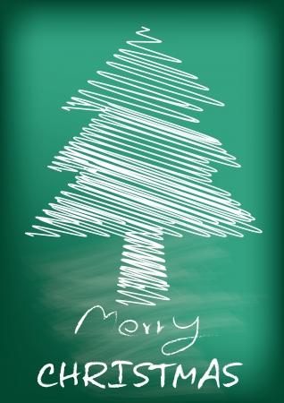 Christmas tree card merry christmas celebration, vector illustration Stock Vector - 16319539