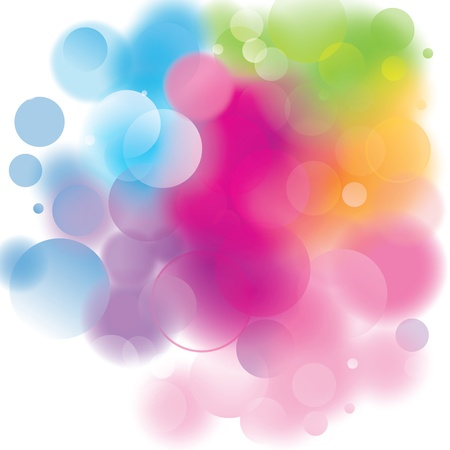colorful bokeh background Stock Vector - 20733705