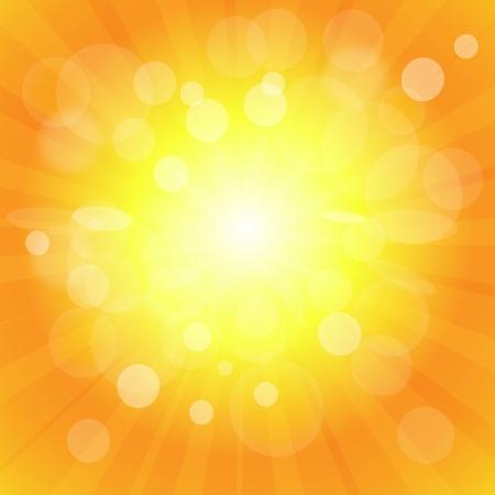 Bright sun effect background Illustration