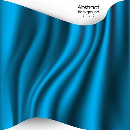 elegant blue abstract  background  cloth or liquid wave Çizim