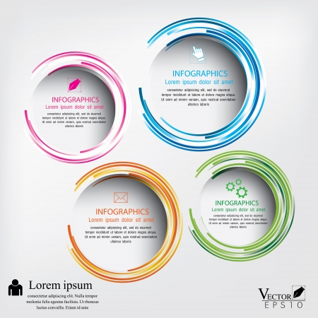 Modern circle illustration Vector
