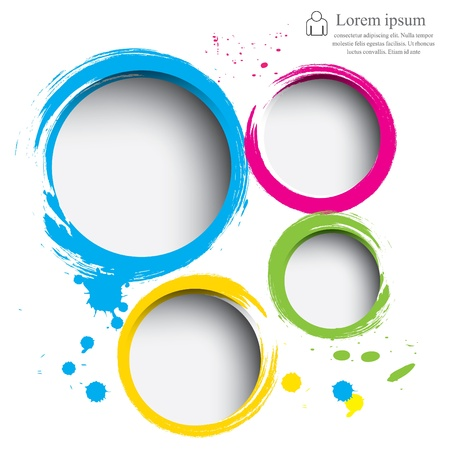 round shape: Modern circle illustration Illustration