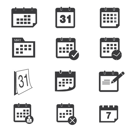 Calendar icons Illustration