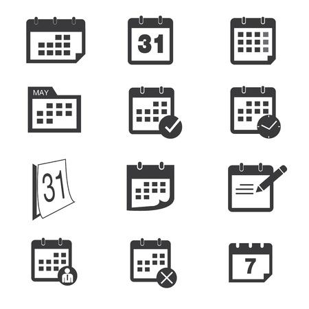 Iconos Calendario Ilustración de vector